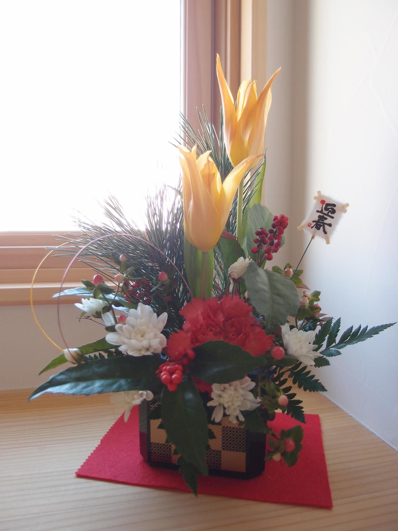 2017年のお正月お花飾り