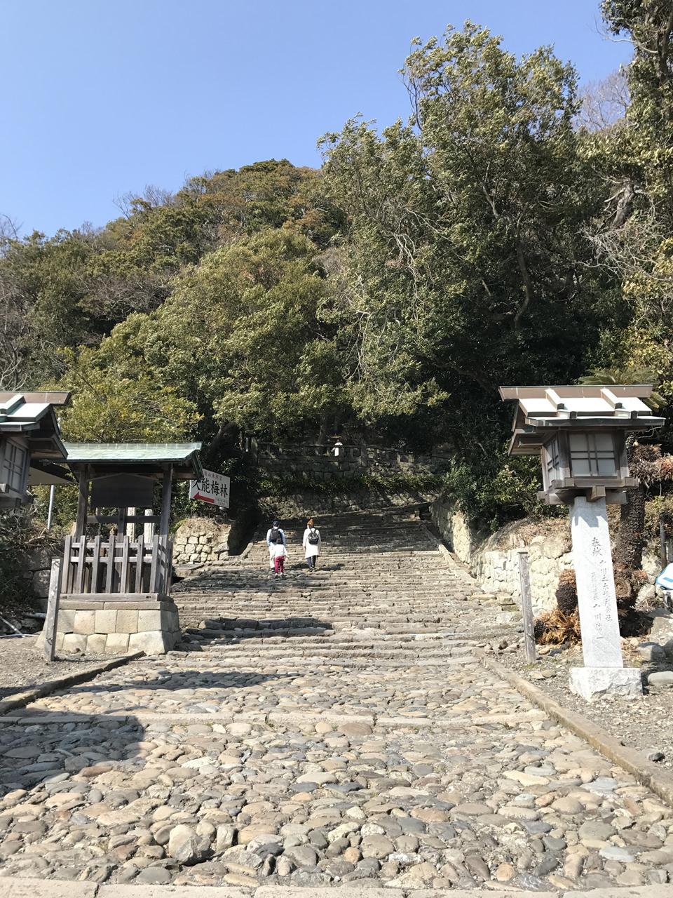 久能山東照宮への石段