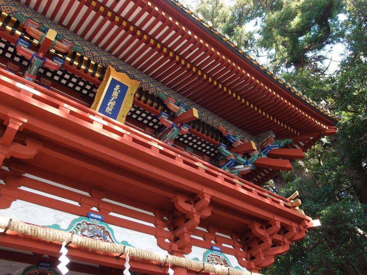 久能山東照宮の地味にハードな石段を登って