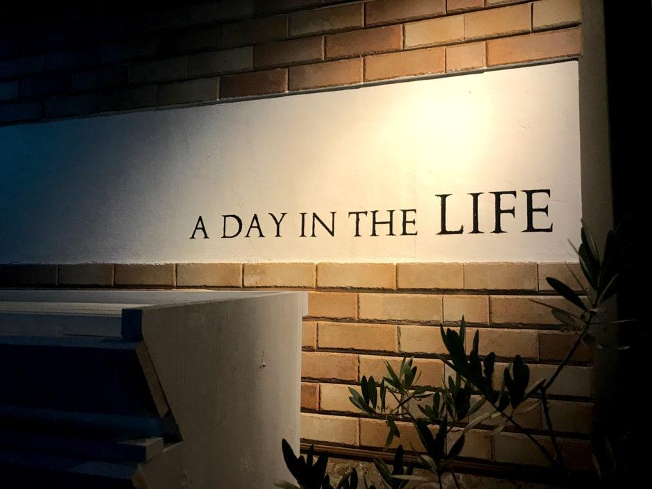 沼津のcafe&bar LIFEさんの看板