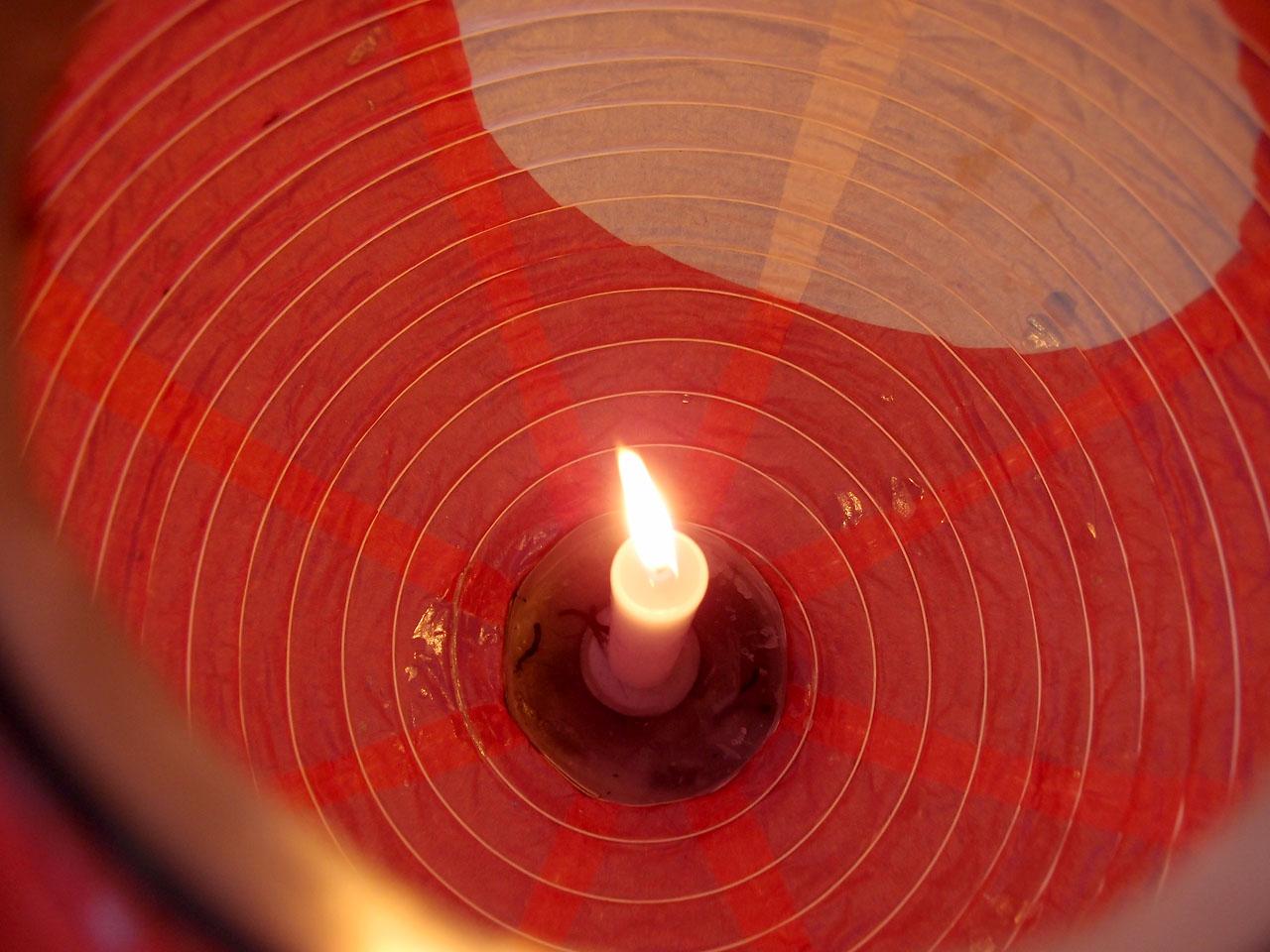 山口ちょうちん祭りのロウソクの明かり