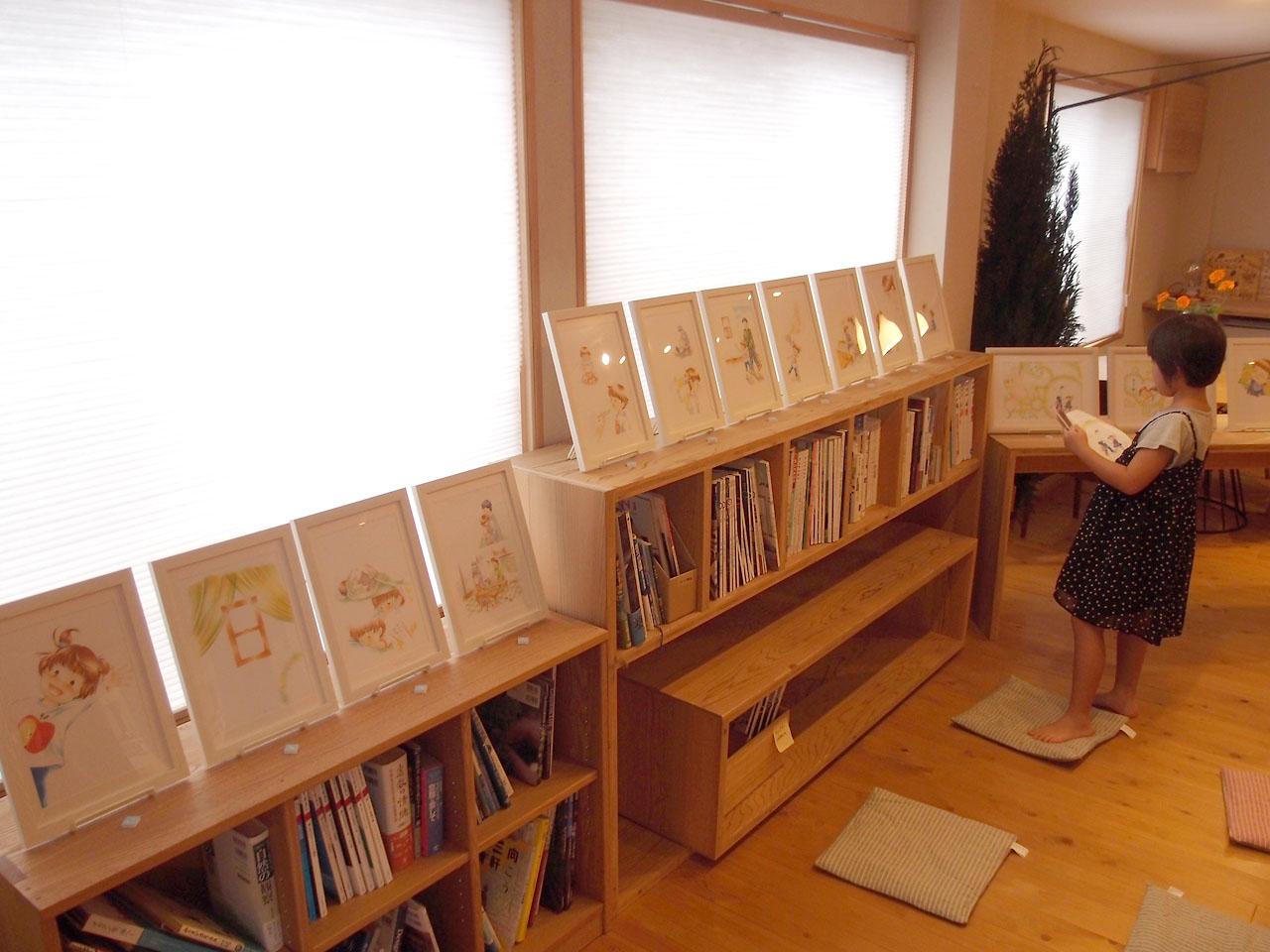 wakaba絵本原画展:最終日の展示