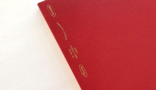 バレットジャーナルを始めて3冊目になりました。赤の365デイズノート