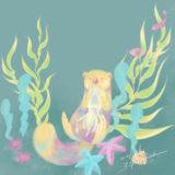 ラッコの海イラスト
