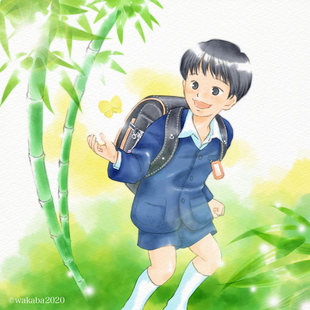 入学お祝いイラスト:男の子