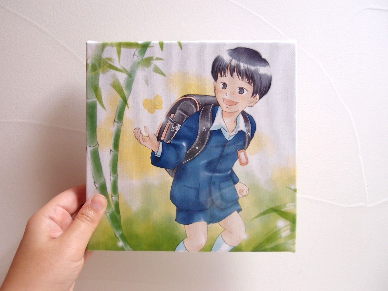 入学お祝いキャンバスプリント:男の子