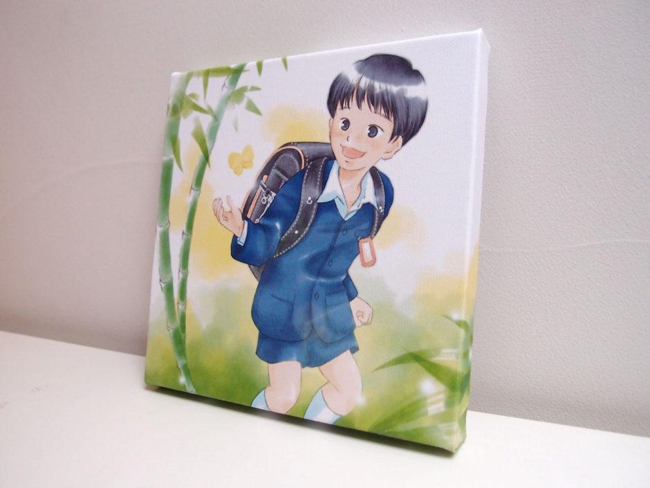 入学お祝いキャンバスプリント側面:男の子
