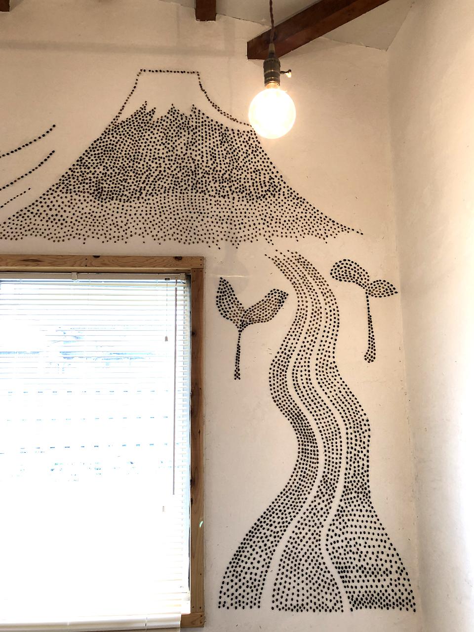 コーヒー豆アートの拡大