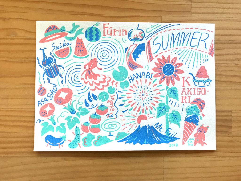 ポスカイラスト:SUMMER