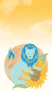 獅子座のiPhone用壁紙