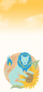 獅子座のiPhoneXS,MAX用壁紙