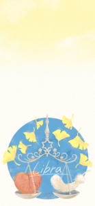 天秤座のiPhoneXS,MAX用壁紙