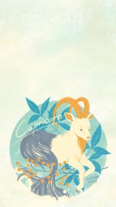 山羊座のiPhone6,7,8,Plus用壁紙